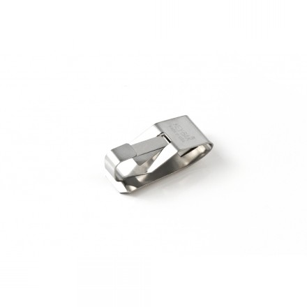 0600-001 - Key-Bak - Stainless Steel Belt Clip with Split-Ring